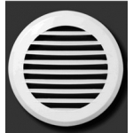 Решетка круглая 170КР, белая, с паралл.накл. жалюзи, D170