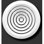 Решетка круглая 170КС, белая с концентрич.жалюзи