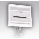 Решетка с фланцем 2121К16ФР, разъемная вентиляционная с регулируемым живым сечением