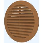 Решетка круглая 12РКН теракот., наружная вентиляционная D125, ASA-пластик