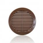 Решетка круглая 12РКН коричневая, наружная вентиляционная D125, ASA-пластик