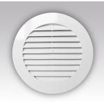 Решетка круглая 15РКН, наружная вентиляционная D200 с фланцем D150, ASA-пластик