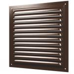 Решетка стальная 3030МЭ, коричневая, вентиляционная с покрытием полимерной эмалью, с сеткой 300х300