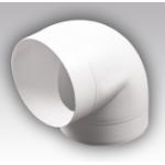 Колено 12,5ККП, 90°, для круглых воздуховодов D125