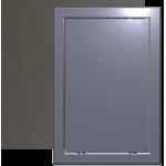 Люк-дверца 20*25 Л, темно-сер.металик, нажимной, ревизионный с фланцем, АБС -пластик