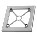 Рамка 100 RW-sz, серый, под лицевую панель, пластик, Awenta