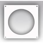 Накладка 16НКП, торцевая 205х205, для круглого воздуховода D160